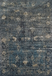Antiquity Charcoal & Teal Art Silk & Polypropylene Rug